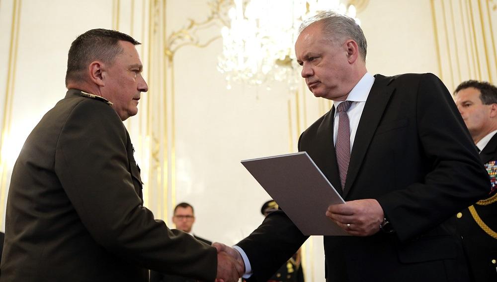 Prezident vymenoval náčelníka Generálneho štábu Ozbrojených síl SR
