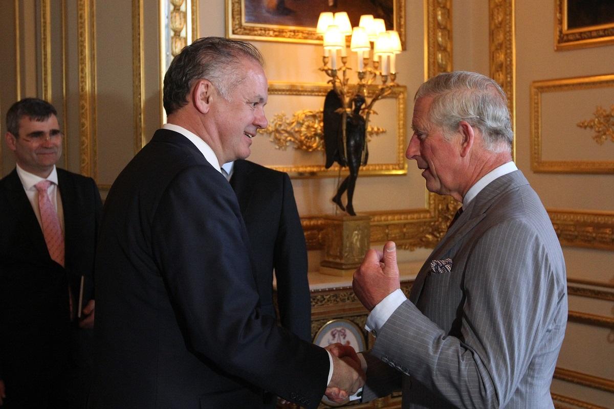 Andrej Kiska sa stretol s princom Charlesom