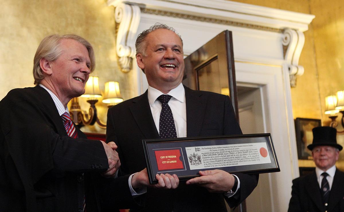 Kiskovi udelili prestížne ocenenie londýnskeho City