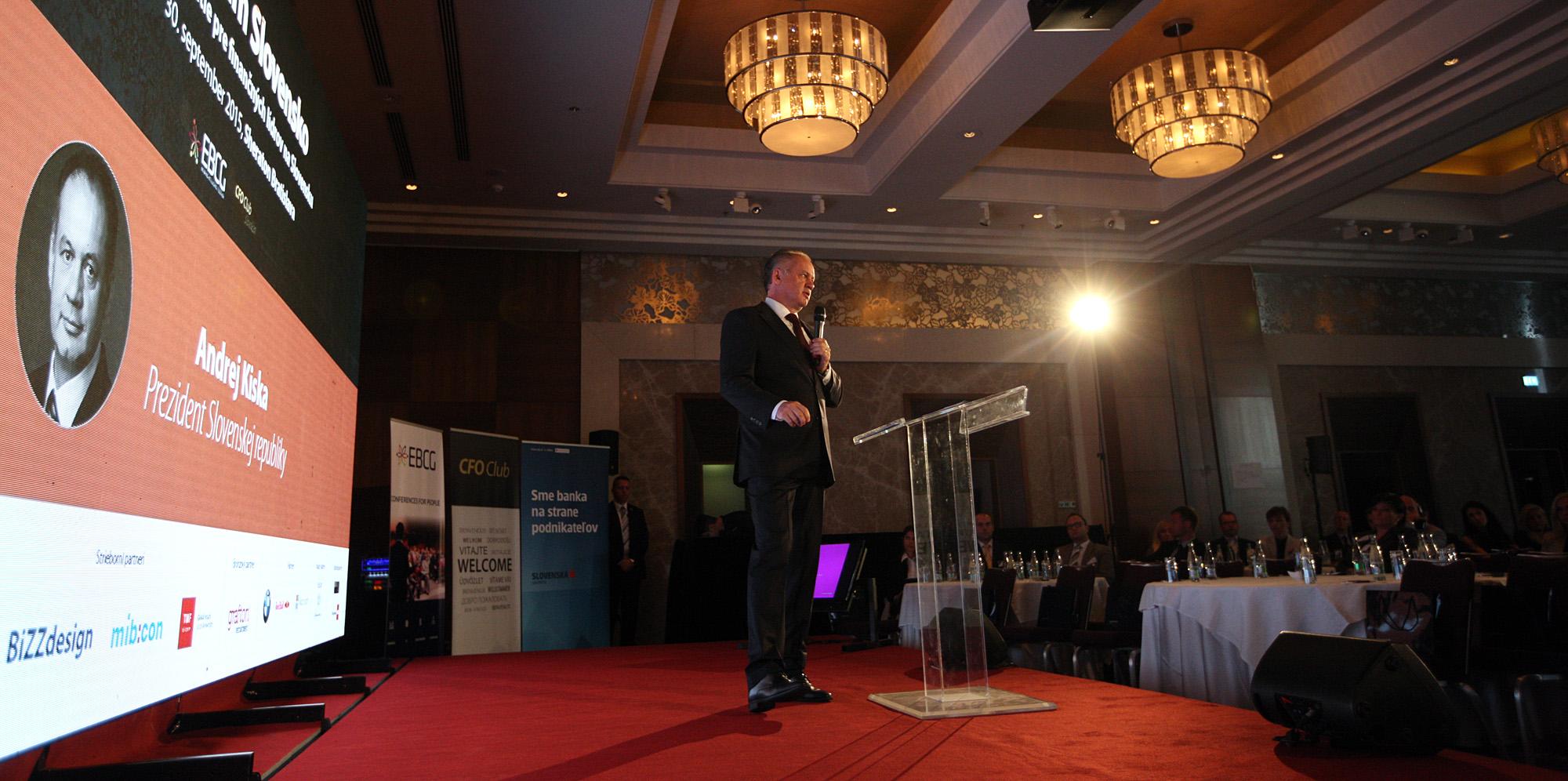Prezident vystúpil na konferenciách pre finančných lídrov a startupy