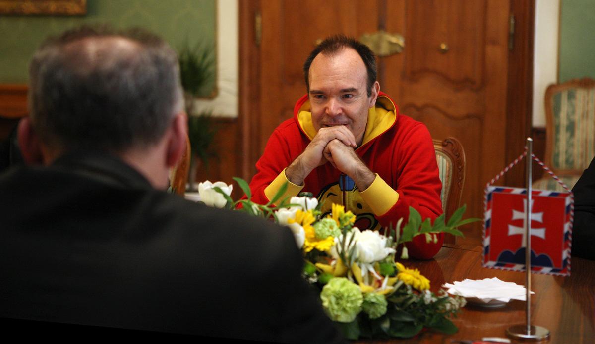 Andrej Kiska diskutoval s jedným z tvorcov hry Angry Birds