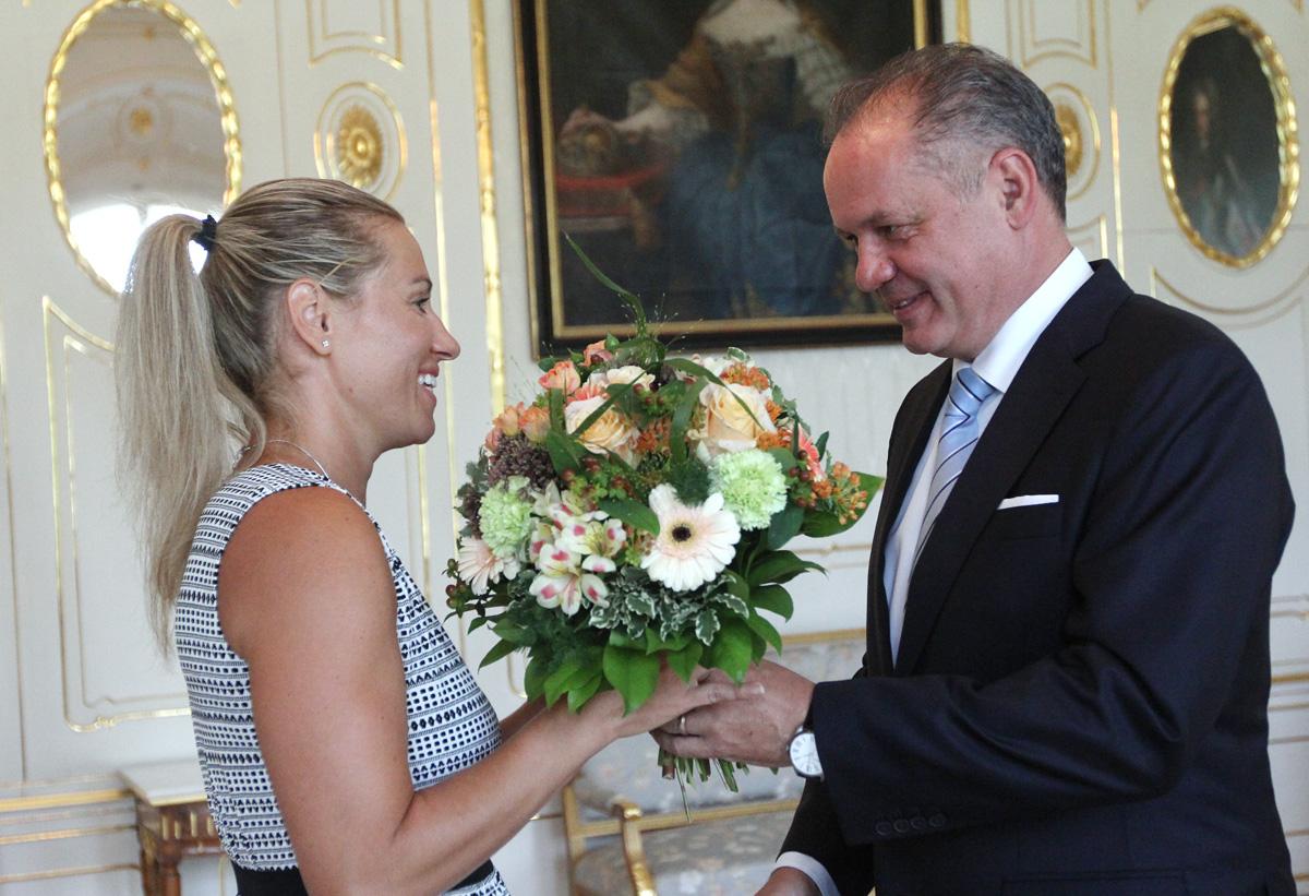 Prezident Kiska prijal basketbalistku Žirkovú