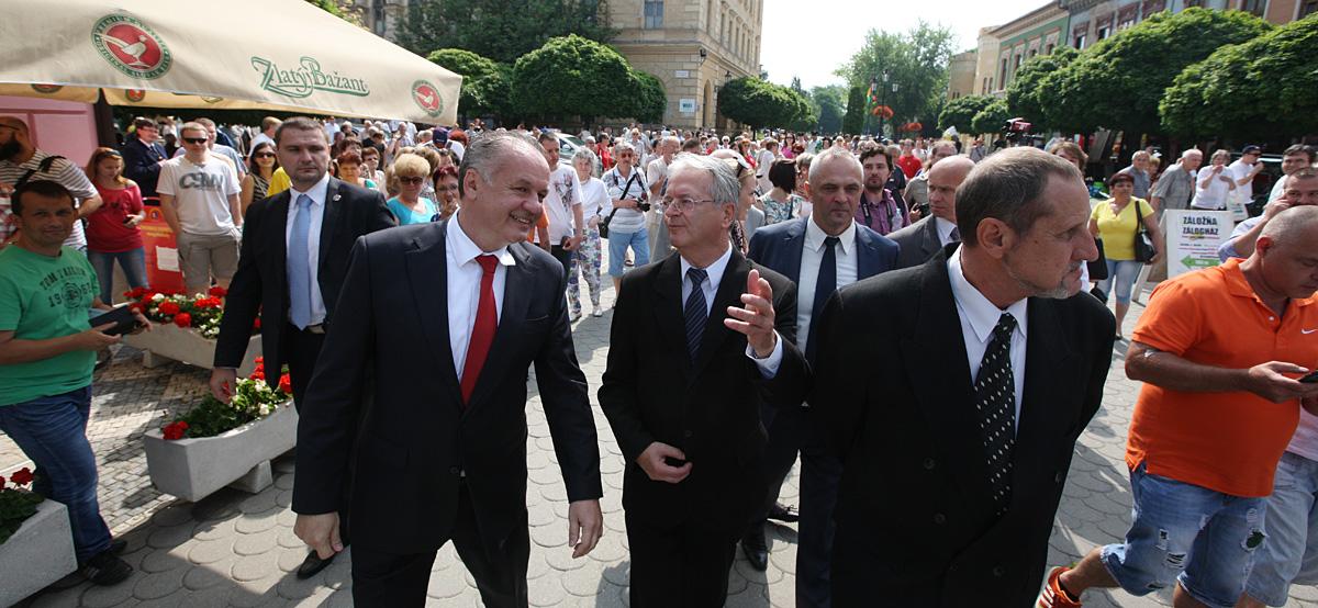 Prezident Kiska v Komárne a okolí