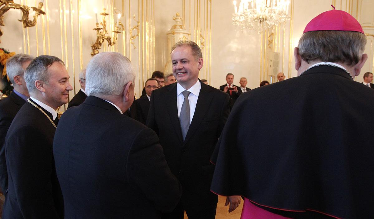 Andrej Kiska prijal zástupcov cirkví a náboženských spoločností