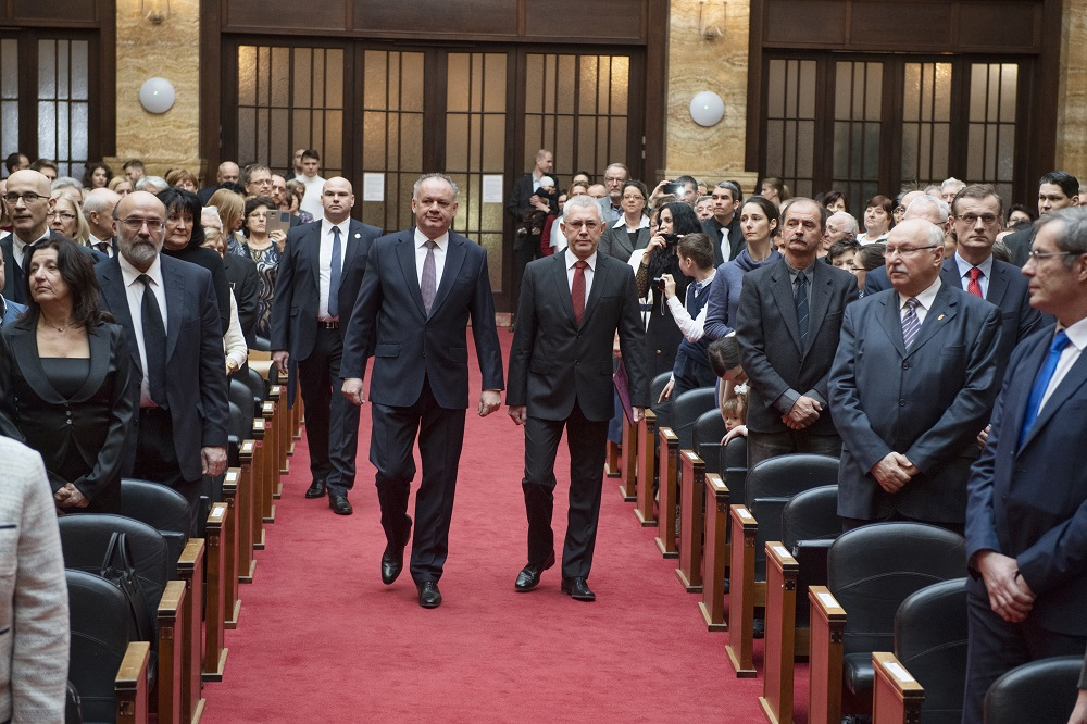 Prezident sa zúčastnil Slávnostnej promócie doktorov vied
