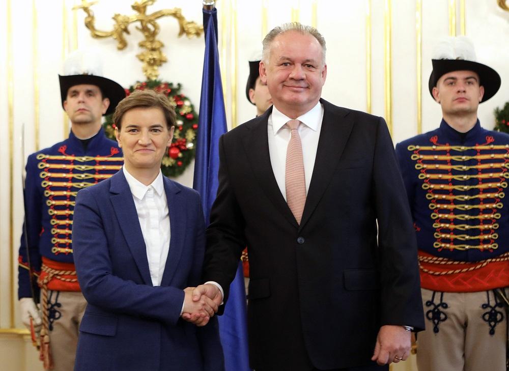 Prezident prijal srbskú premiérku Anu Brnabić
