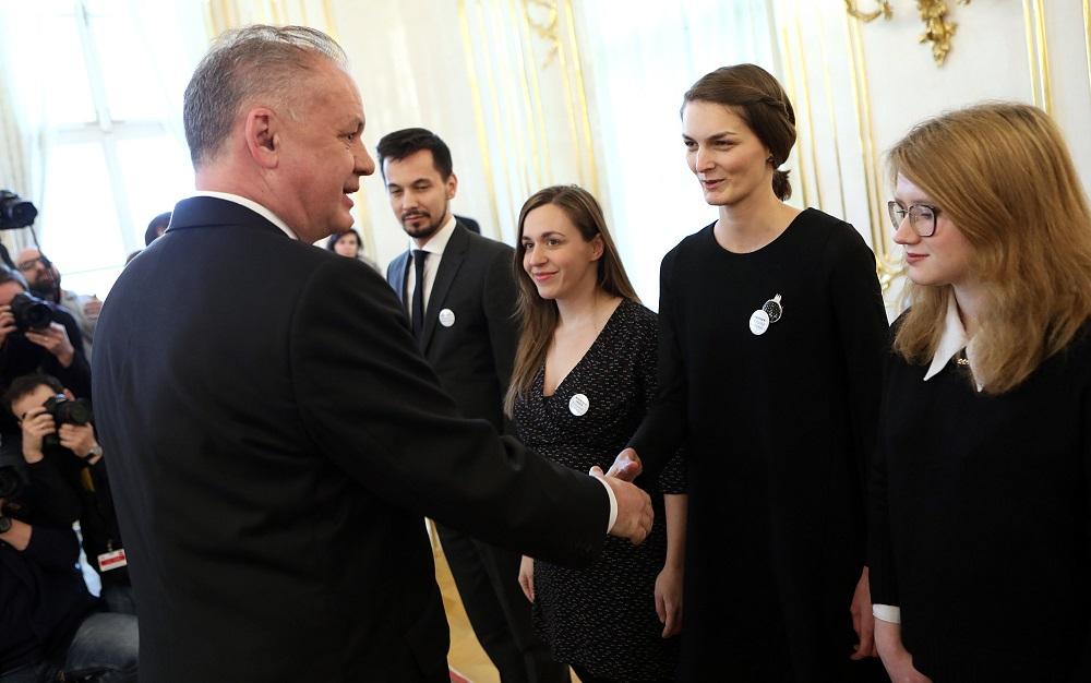 Andrej Kiska prijal členov iniciatívy Za slušné Slovensko