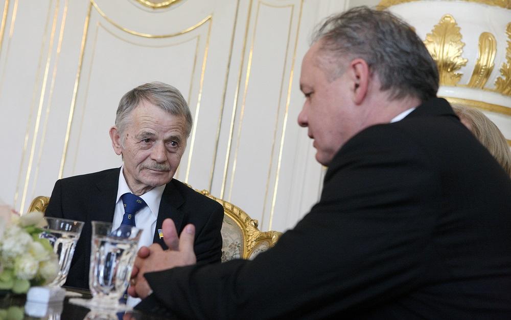 Prezident Andrej Kiska prijal Mustafu Džemileva
