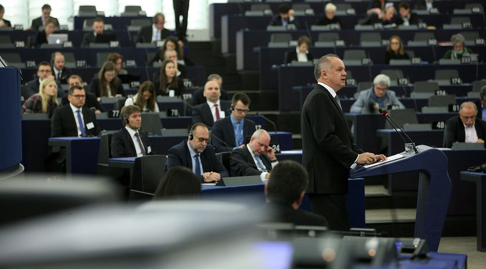 President Kiska addressed the European Parliament