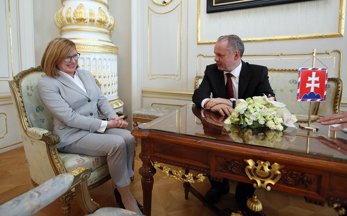 Prezident prijal ministerku pôdohospodárstva
