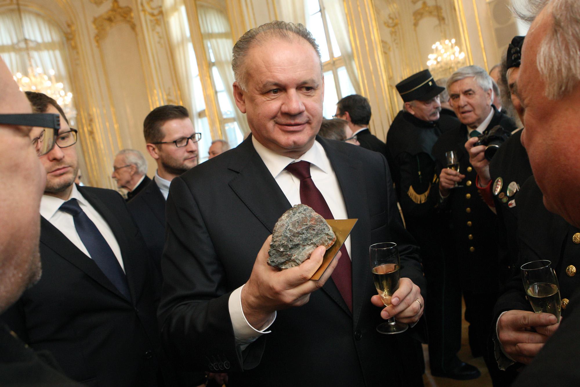Andrej Kiska prijal na novoročnom stretnutí zástupcov baníkov