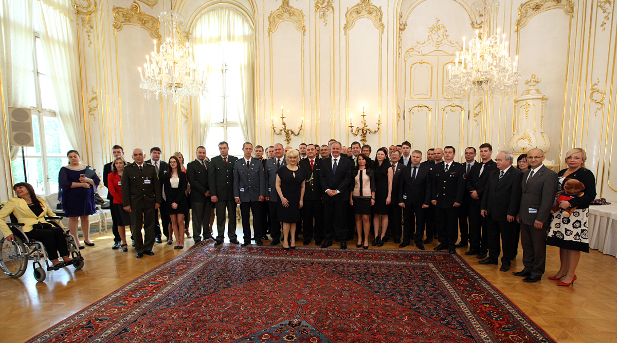 Prezident Kiska prijal ocenených záchranárov