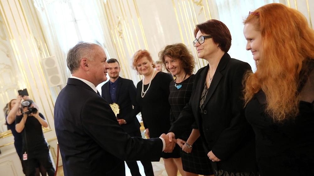 Prezident prijal učiteľov ocenených v rámci Global Teacher Prize