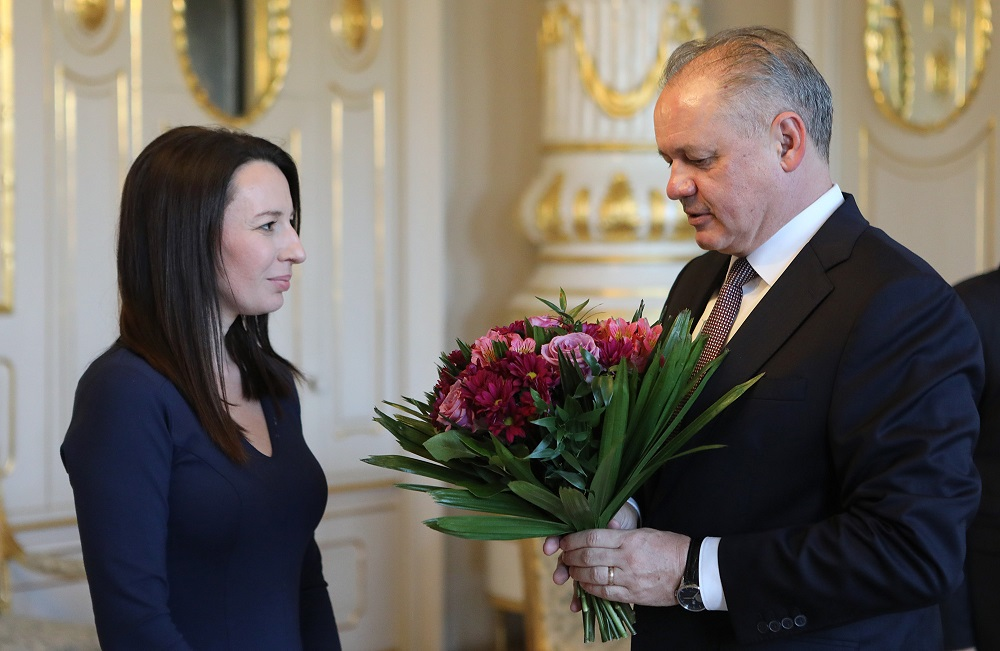 Prezident sa stretol s Hedvigou Malinovou Žákovou