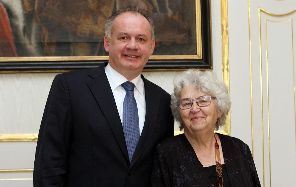 Andrej Kiska pozval do paláca bývalú členku odboja Annu Bergerovú