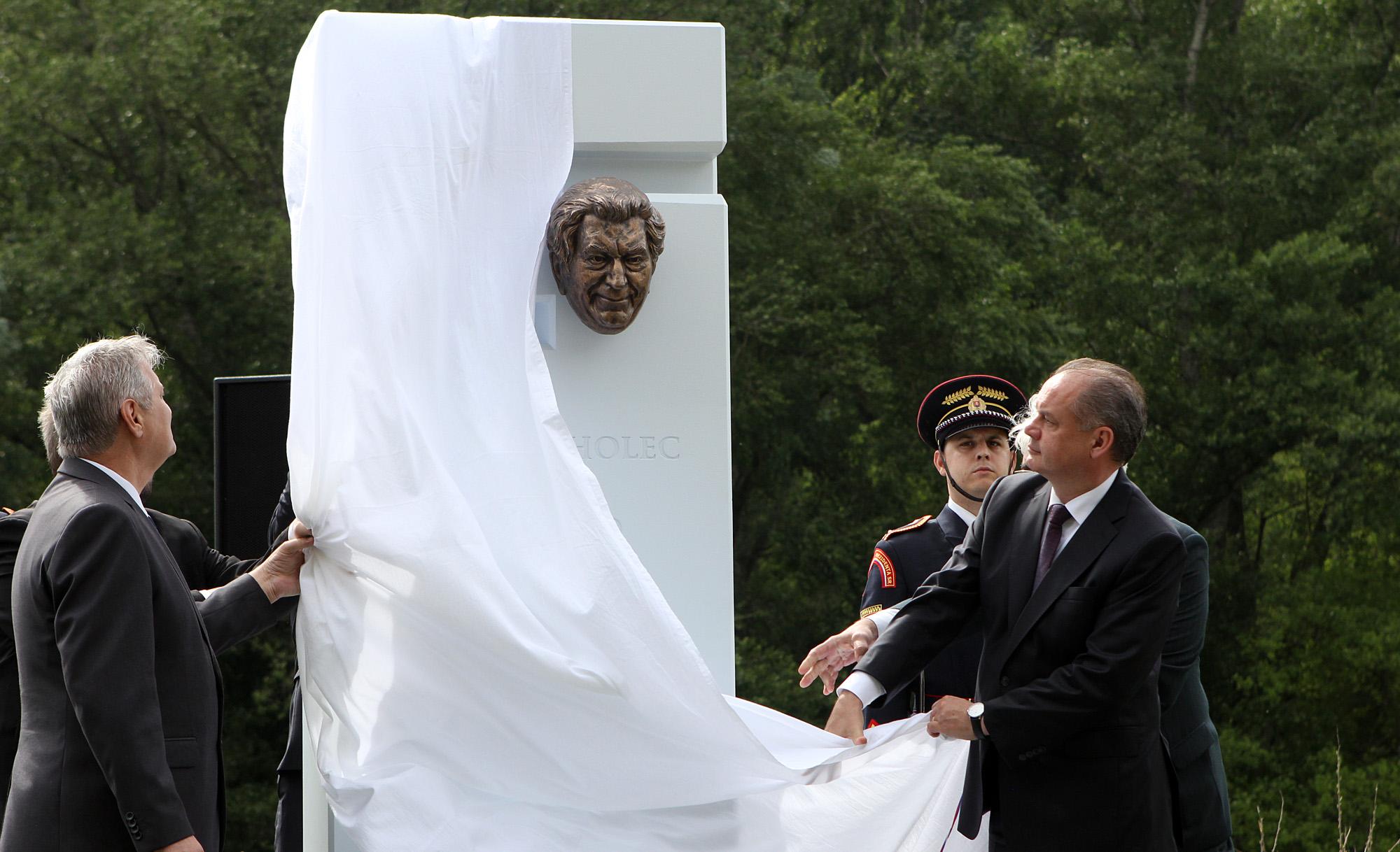 Prezident na odhalení Pomníka Antona Srholca