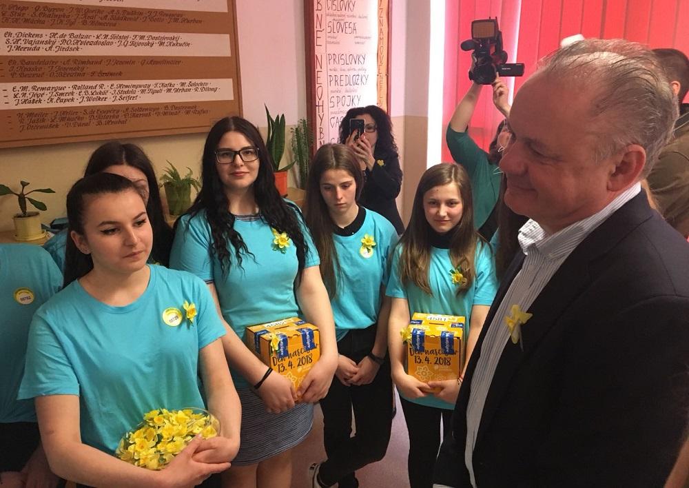 Prezident sa stretol s dobrovoľníkmi Dňa narcisov