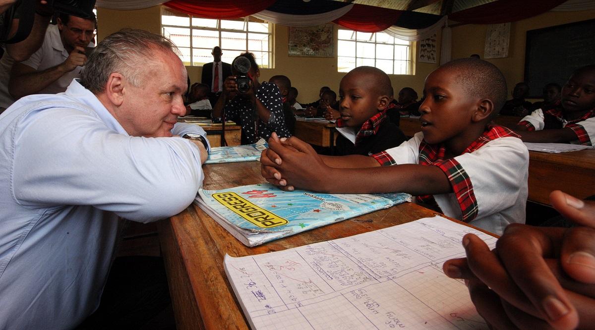 Prezident navštívil v Nairobi viaceré slovenské projekty