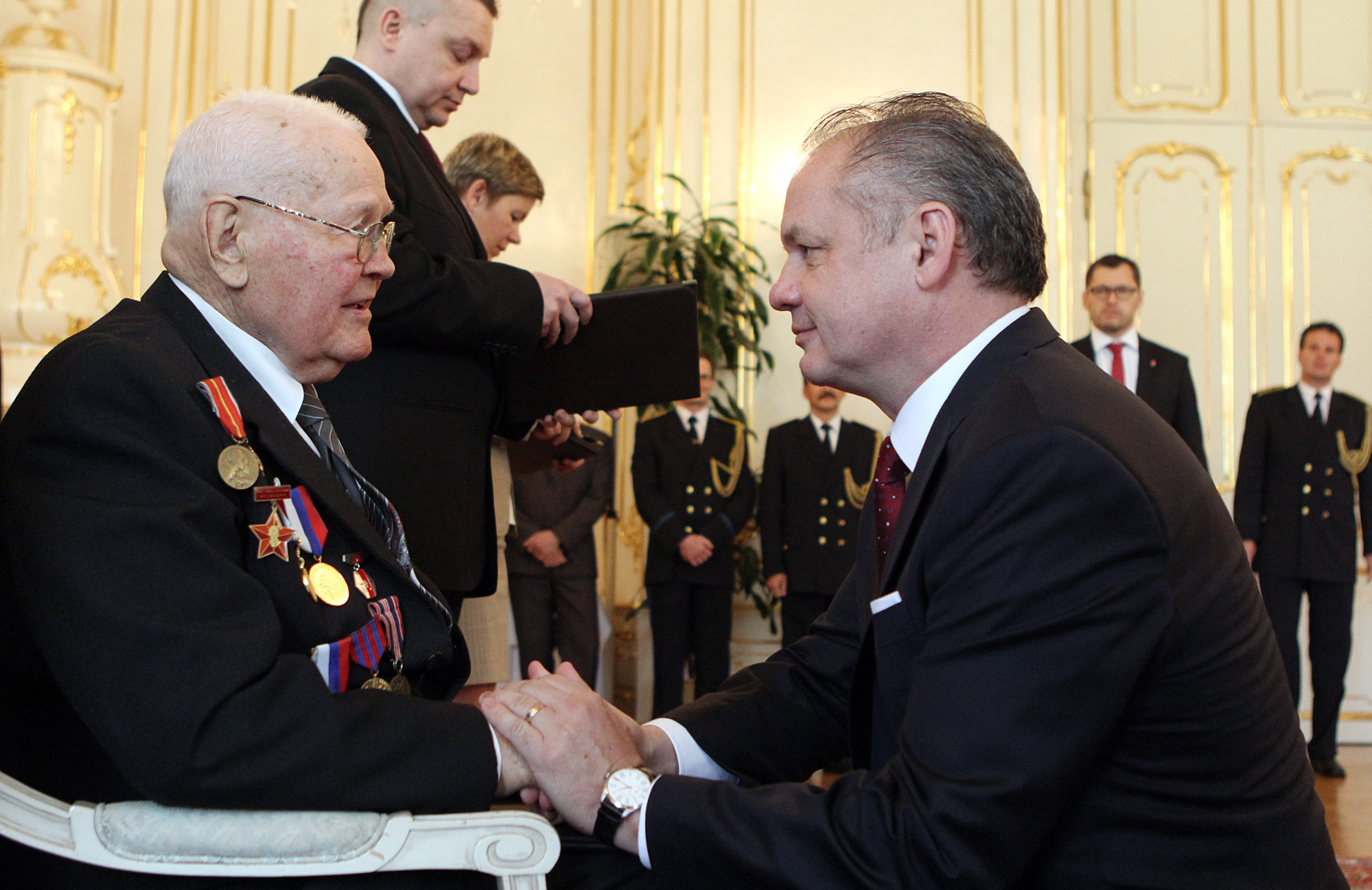 Prezident vyjadril úctu vojnovým veteránom