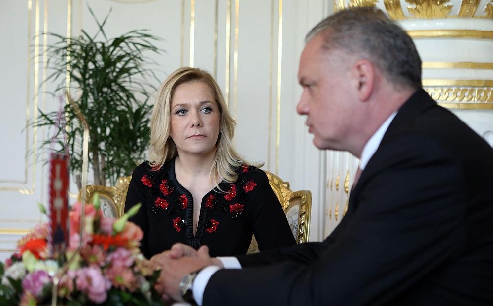 Prezident nie je spokojný s kandidátkou na ministerku vnútra Sakovou