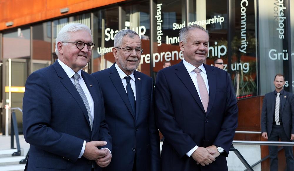 Prezidenti Slovenska, Rakúska a Nemecka diskutovali o Európskej únii