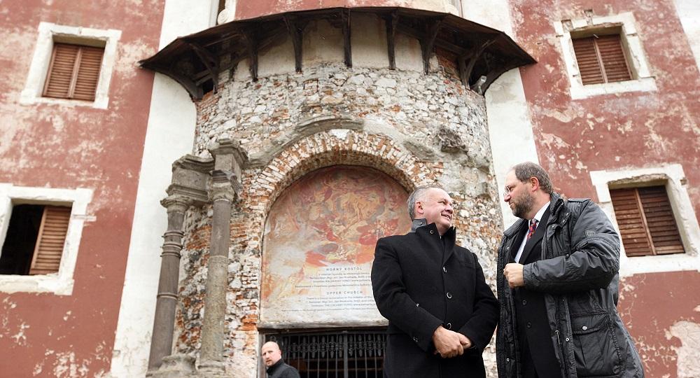 Prezident Kiska navštívil Banskú Štiavnicu