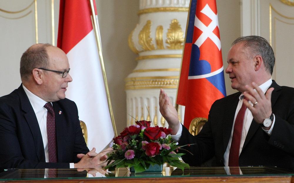 Prezident prijal monacké knieža Alberta II. na oficiálnej návšteve
