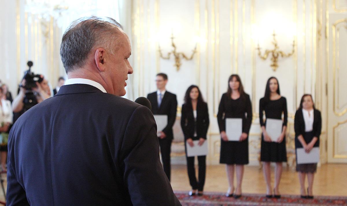 Prezident Kiska vymenoval piatich nových sudcov