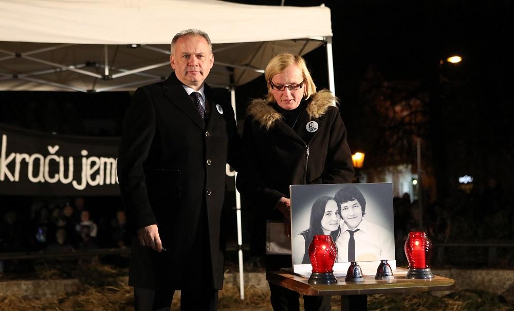 Prezident si v Košiciach uctil pamiatku Jána Kuciaka a Martiny Kušnírovej