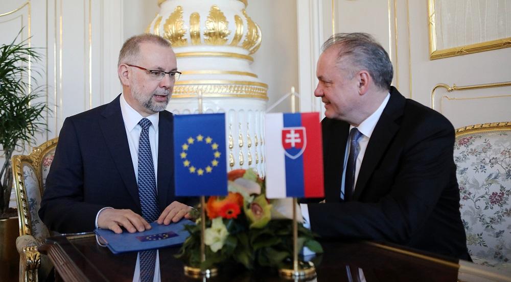 Prezident prijal vedúceho Zastúpenia Európskej komisie na Slovensku