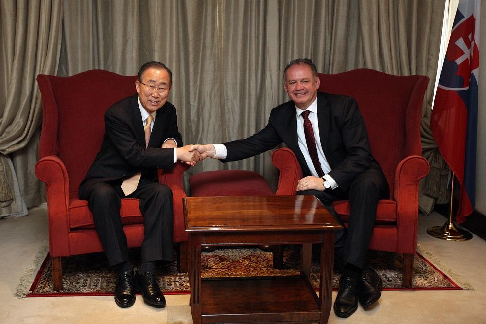 Kiska sa v Keni stretol s bývalým šéfom OSN Pan Ki-munom