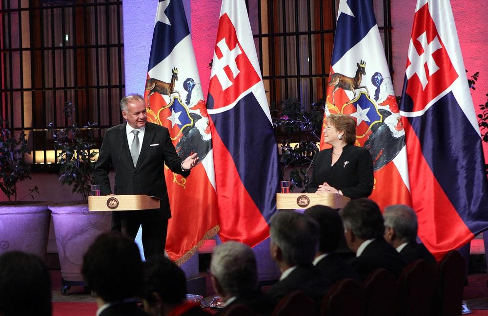 Andrej Kiska počas návštevy Čile: Zdieľame rovnaké hodnoty