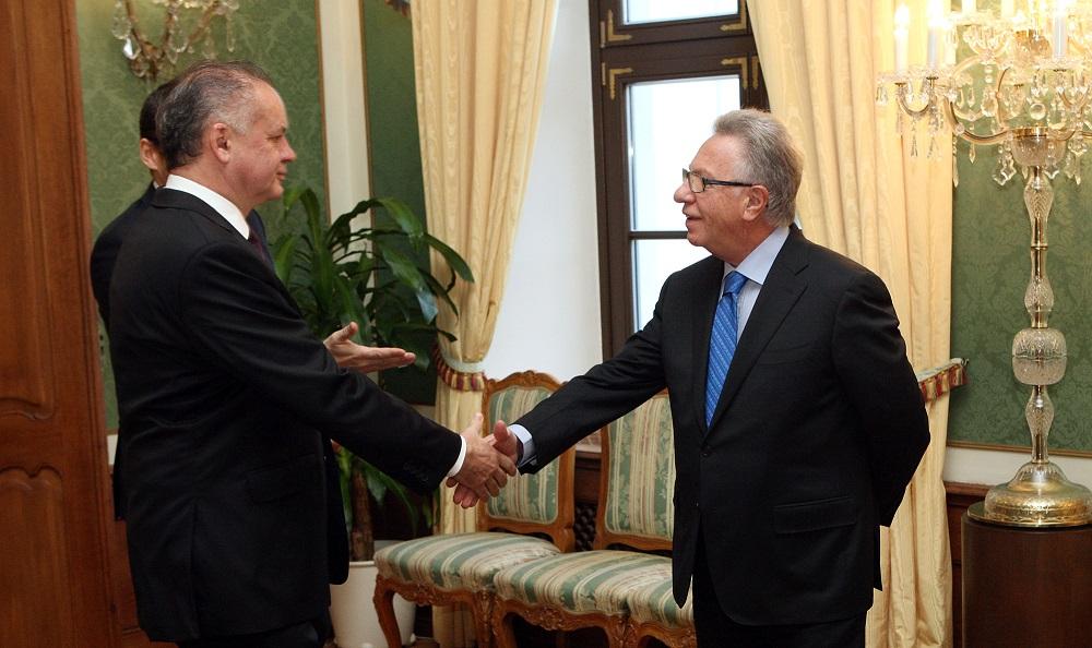 Prezident Kiska prijal Benátsku komisiu vo veci Ústavného súdu