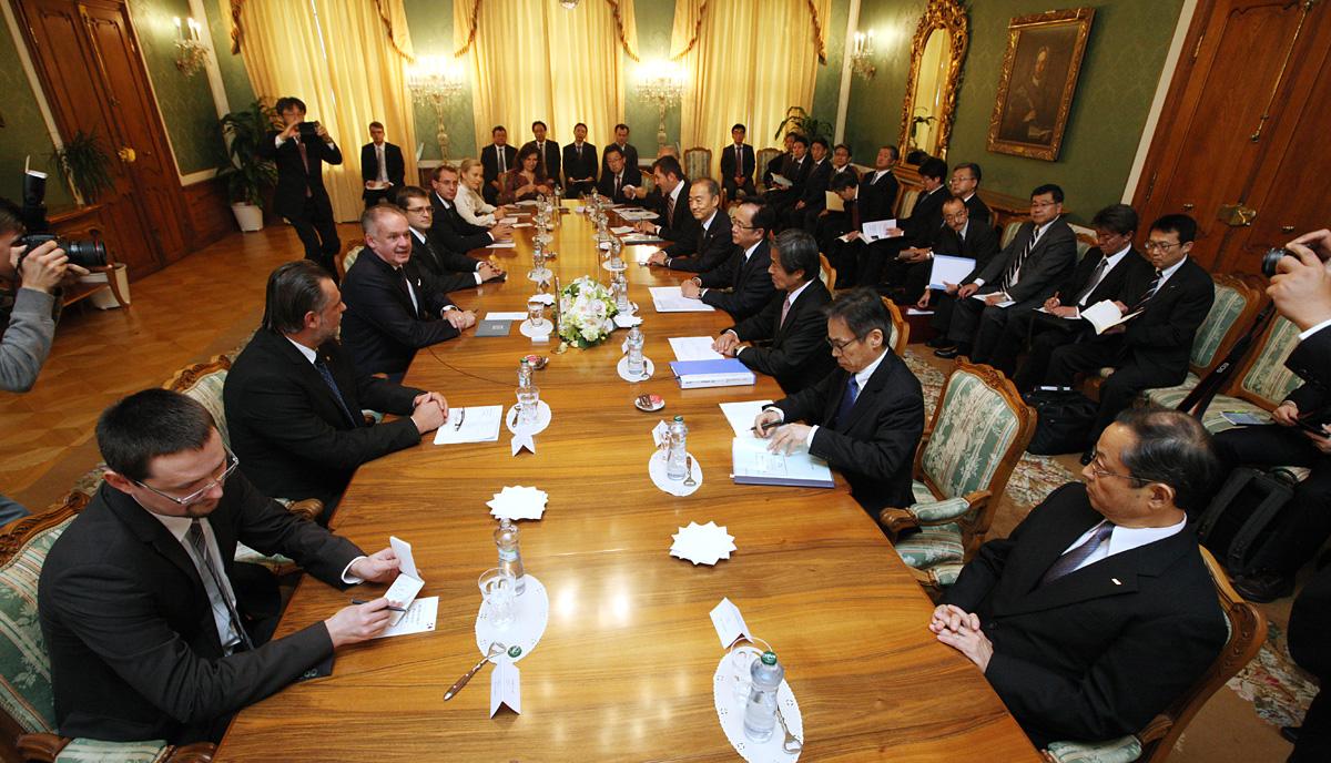 Prezident prijal japonských podnikateľov