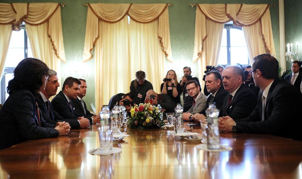 Andrej Kiska rokoval so stranami Most-Híd a SNS
