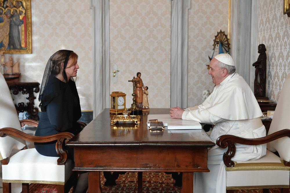 President Meets Pope Francis at the Vatican