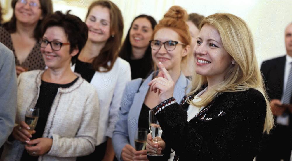 Prezidentka prijala učiteľov z Komenského inštitútu