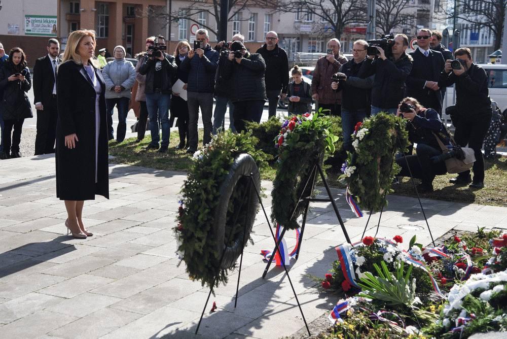 Prezidentka si uctila pamiatku T. G. Masaryka v jeho rodnom meste