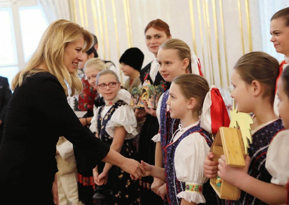 Koledníci Dobrej noviny v Prezidentskom paláci