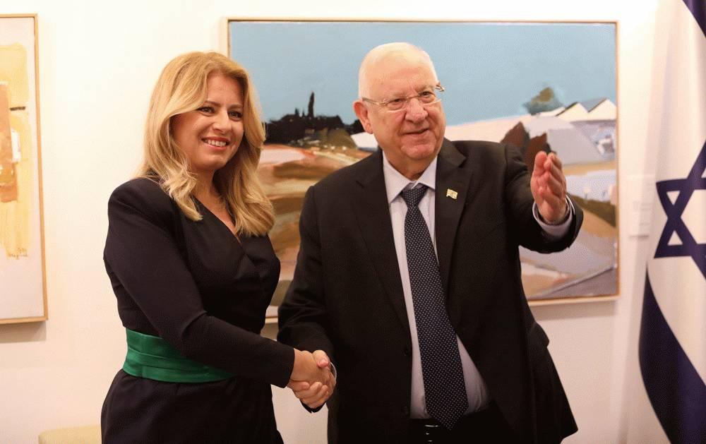 Prezidentka sa stretla s izraelským prezidentom Reuvenom Rivlinom