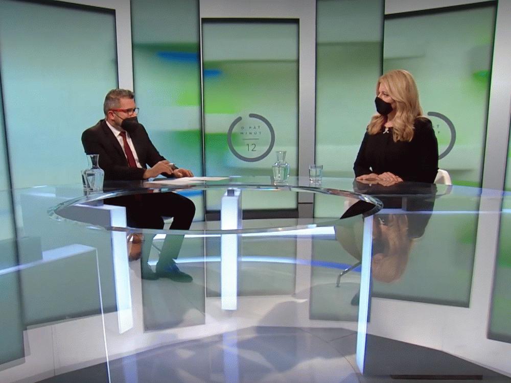 Prezidentka v RTVS: Potrebujeme spojiť sily a posunúť sa dopredu