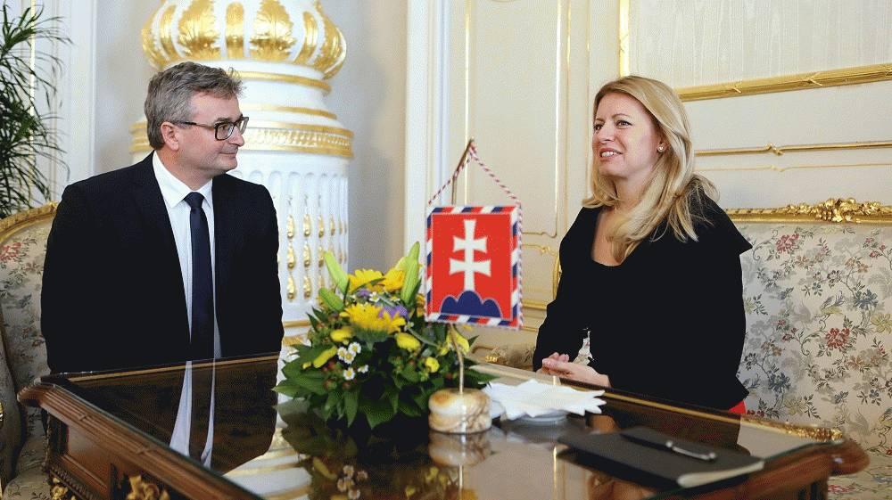 Prezidentka prijala predsedu Ústavného súdu SR Ivana Fiačana
