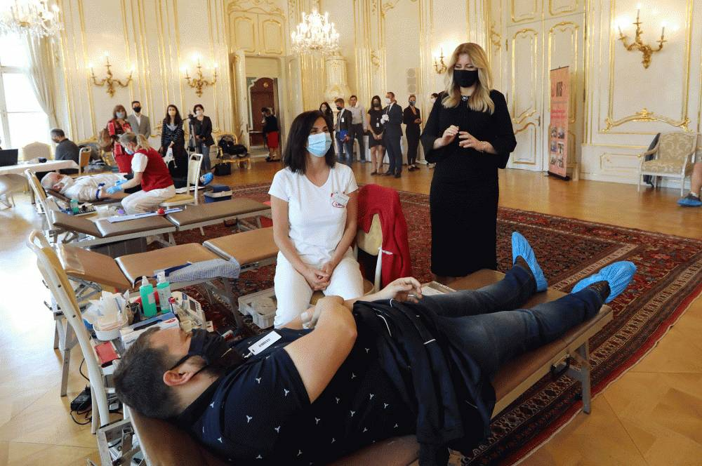 Prezidentský palác privítal darcov krvi