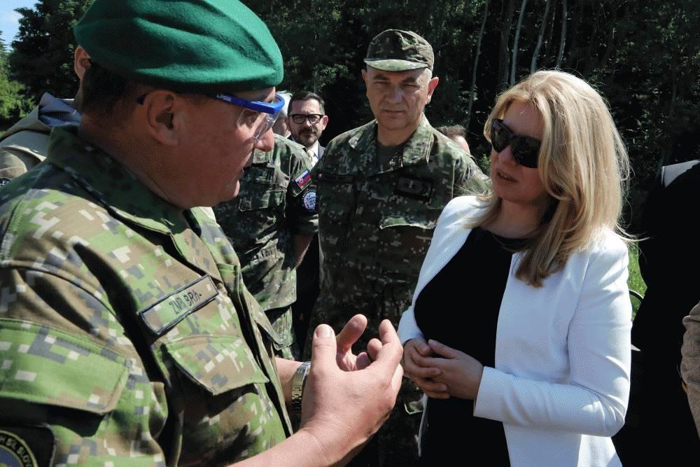 Prezidentka sa zúčastnila na vojenskom cvičení Slovak Shield