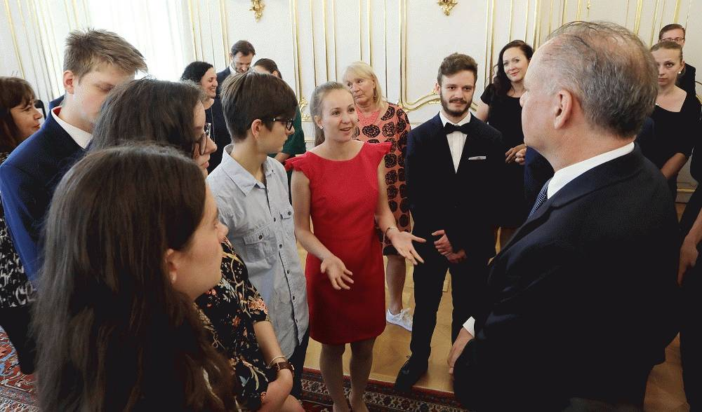 Andrej Kiska prijal finalistov Olympiády ľudských práv