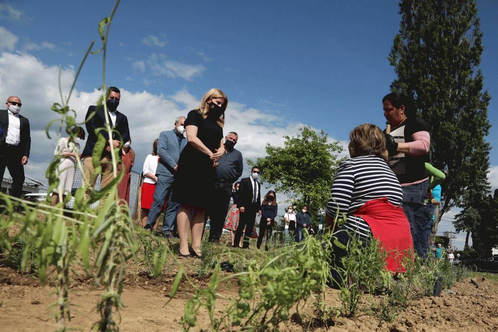 Prezidentka navštívila Lučenec a sociálny podnik v Rovňanoch