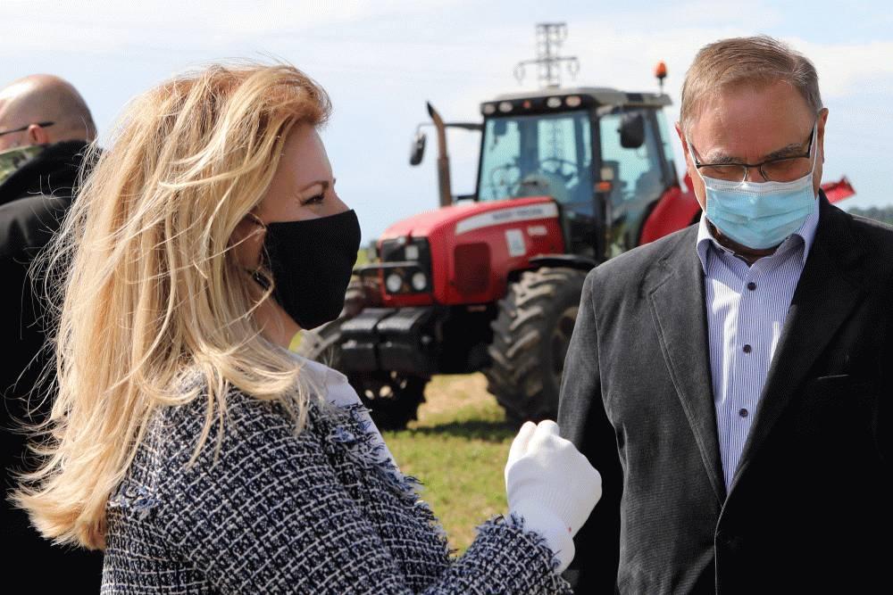 Prezidentka sa na Zemplíne zaujímala o dopady sucha