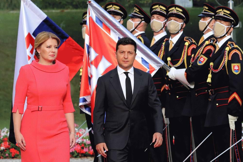 Prezidentka privítala ukrajinského prezidenta Volodymyra Zelenského