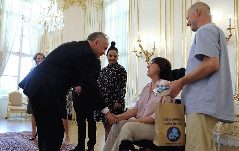 Prezident prijal zástupcov charitatívnych organizácií