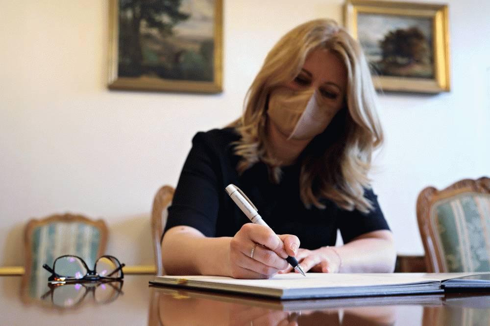 Prezidentka podpísala tri zákony, jeden s výhradami